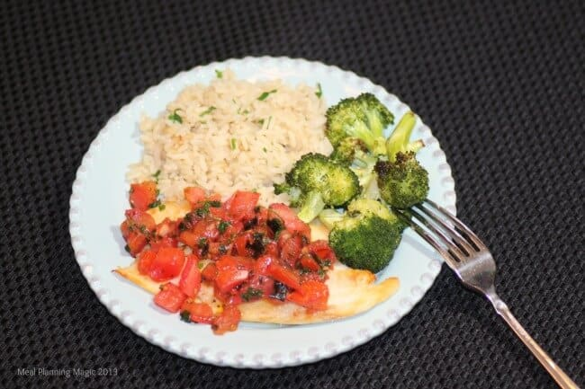 Food Bloggers Against Hunger & Budget Friendly Tomato Topped Tilapia Recipe | Meal Planning Magic