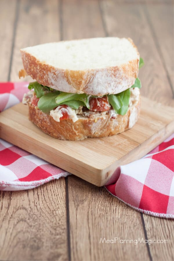 image of BLT chicken salad sandwich