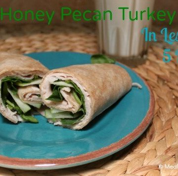 A Honey pecan turkey wrap is the perfect healthy lunch, and it can be made in under 5 minutes! | Meal Planning Magic | H-E-B Ready Set Cook Challenge!