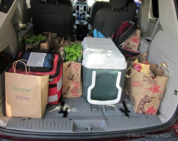 Four of us filled up the back of my van--loaded down with  real food goodness. Yum!