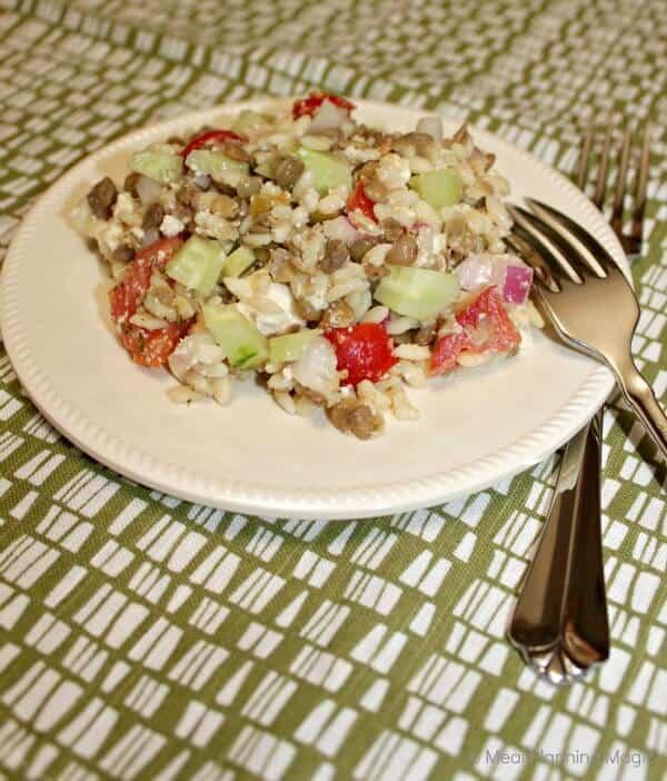 Greek Lentil & Orzo Salad