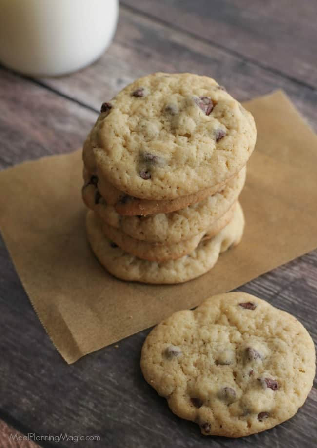If you love a softer, chewier cookie, my Classic Chocolate Chip Cookies fit the bill. With only a few basic ingredients, they will disappear almost as fast as you can make them! Recipe at MealPlanningMagic.com