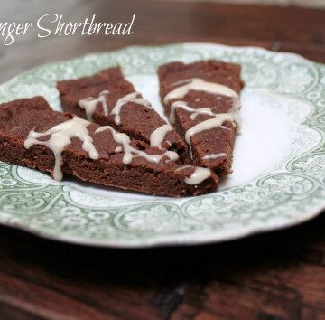 Fudgy ginger shortbread are delicious chocolate shortbread cookies with a hint of ginger flavor, perfect for any holiday cookie platter! | 12 Weeks of Christmas Treats Blog Hop hosted by Meal Planning Magic