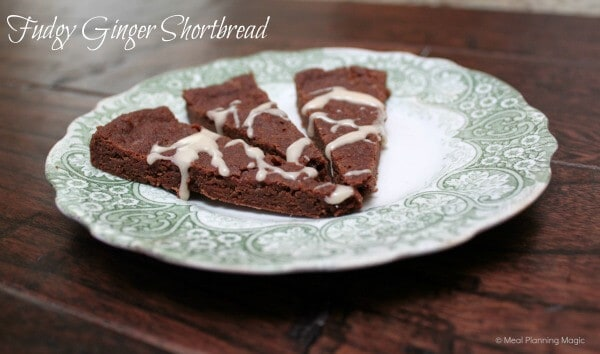 Fudgy Ginger Shortbread | 12 Weeks of Christmas Treats Blog Hop hosted by Meal Planning Magic