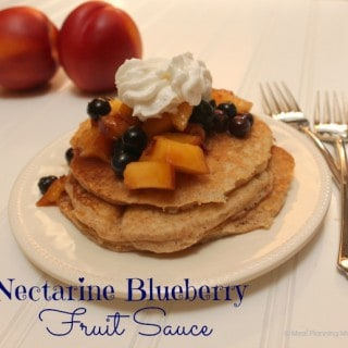 Simple Nectarine and Blueberry Sauce