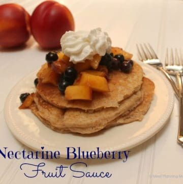 Nectarine-Blueberry Fruit Sauce recipe | EatingAtoZChallenge | MealPlanningMagic.com