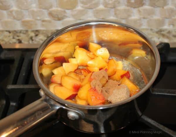 Nectarine-Blueberry Fruit Sauce recipe | EatingAtoZChallenge | MealPlanningMagic.com