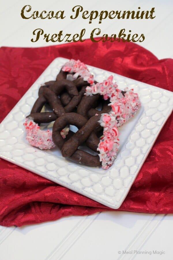 Cocoa Peppermint Prtezel Cookies   12 Weeks Christmas Treats   MealPlanningMagic.com