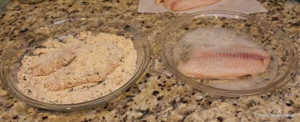 dipping mixture for Quick & Easy Crunchy Oven Fried Fish with Make Ahead Tip
