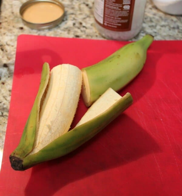 green plantain, peeled | #EatingAtoZChallenge | MealPlanningMagic.com