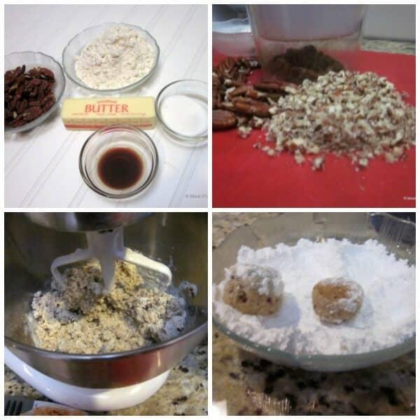 Pecan Puffs Cookie Recipe | #12wksxmastreats | MealPlanningMagic.com