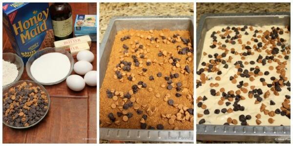Ingredients to make Chocolate Peanut Butter Cheesecake Bars   12 Weeks Christmas Treats   MealPlanningMagic.com