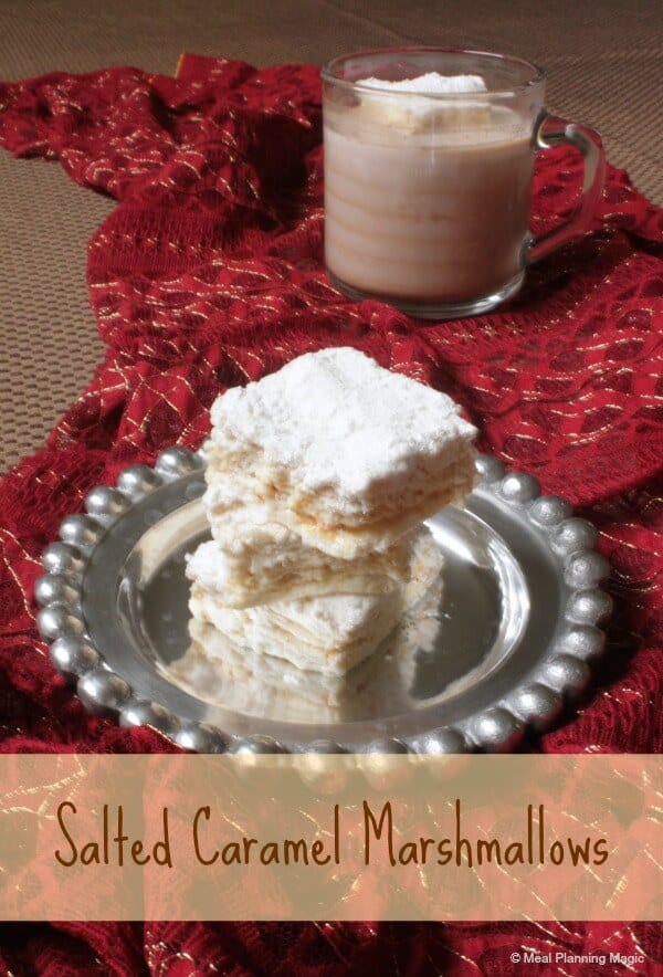 Homemade Salted Caramel Marshmallows | 12 Weeks Christmas Treats hosted by MealPlanningMagic.com | #12wksxmastreats