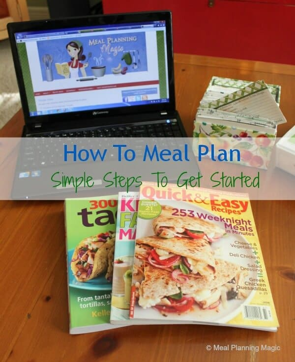 How To Meal Plan--Simple Steps to Get Started | from MealPlanningMagic.com