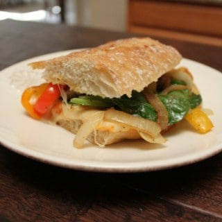 Spinach and Sautéed Vegetables Panini