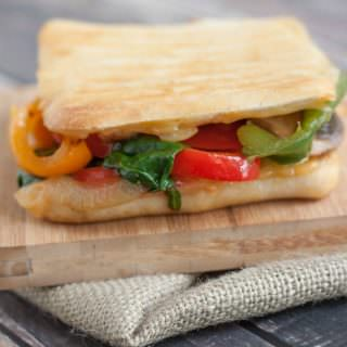 Simple Sauteed Vegetable Panini