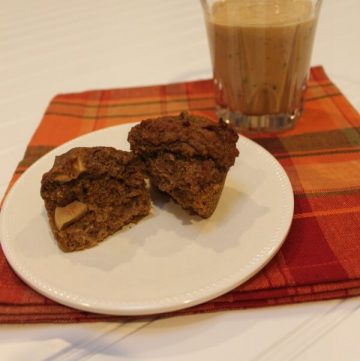 Fall Favorites-Pumpkin Apple Muffin and Fruity Pumpkin Pie Smoothie