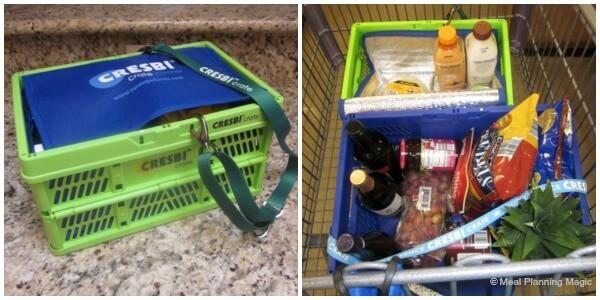 Reusable Grocery Crates -CRESBI Crates Review   MealPlanningMagic.com