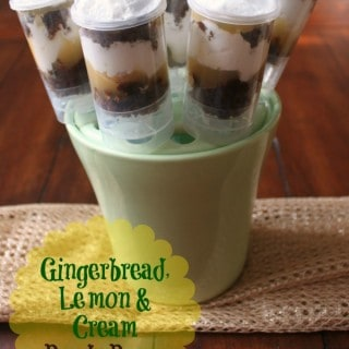 Gingerbread Lemon Cream Push Pops