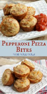 Collage image of Pepperoni Pizza Bites