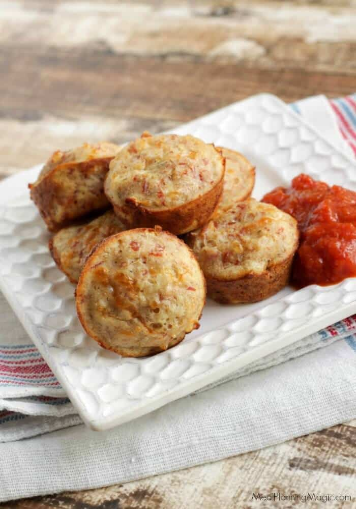 Just a few ingredients is all it takes to make these Pepperoni Pizza Bites. They are perfect as a game day appetizer, a snack or even for lunch!