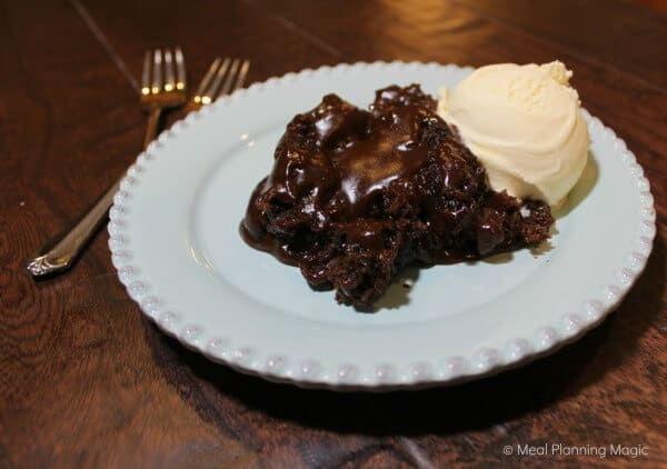 Homemade Slowcooker Chocolate Lava Cake | MealPlanningMagic.com
