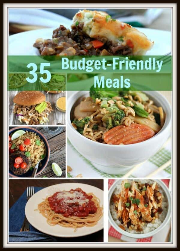Budget friendly meals are easy to make, thanks to this recipe roundup! With over 30 delicious and easy recipes at your fingertips, you can make hearty, low cost meals. | compiled by MealPlanningMagic.com