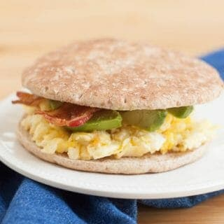 Only four ingredients, this Quick and Easy Egg Bacon Avocado Breakfast Sandwich is a tasty, satisfying on-the-go breakfast option. And much of it can be made ahead too