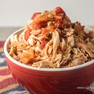 Slow Cooker Chicken Tinga | Cook Onces, Eat Four Times with Easy Slowcooker Chicken | Recipe at MealPlanningMagic.com