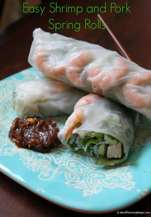 Easy Shrimp and Pork Spring Rolls | #BlogFilmFood | MealPlanningMagic.com