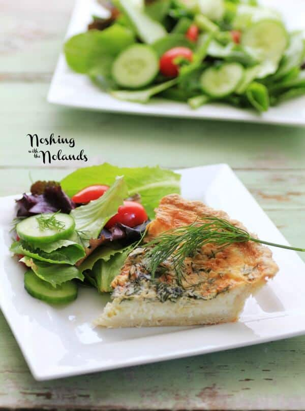 Spring Herbed Brie Quiche by Noshing With The Nolands | Guest Post on MealPlanningMagic.com