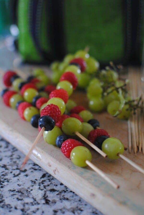 Planning a Perfect Picnic - Fruit Kebabs | MealPlanningMagic.com