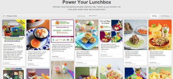 #PowerYourLunchbox Pledge Pinterest Board ideas