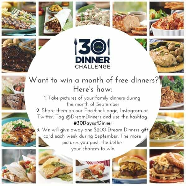 Dream Dinners #30DaysofDinner Challenge - September 2014