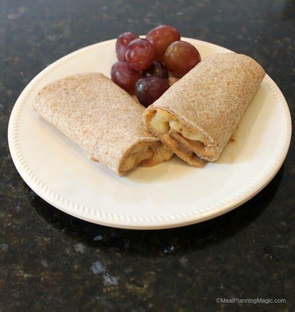 Peanut Butter, Banana & Jelly roll-ups - #PBJrevolution