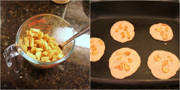 Steps for Whole Wheat Apple Pancakes | #52NewFoods