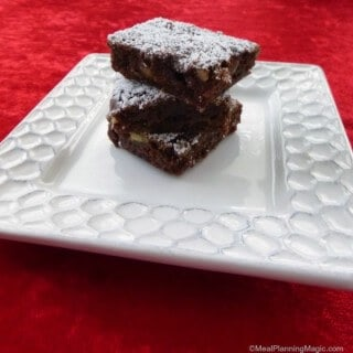 Choclate and cherry combine in these almost fudge-like Black Forest Brownies! | 12 Weeks Christmas Treats | Recipe at www.mealplanningmagic.com
