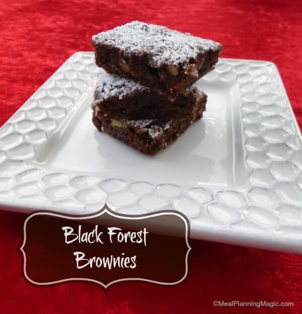 These Black Forest Brownies are a moist and delicious blend of chooclate and cherry flavors! | 12 Weeks Christmas Treats