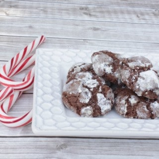 Chocolate Mint Snow Top Cookies {Crinkle Cookies}