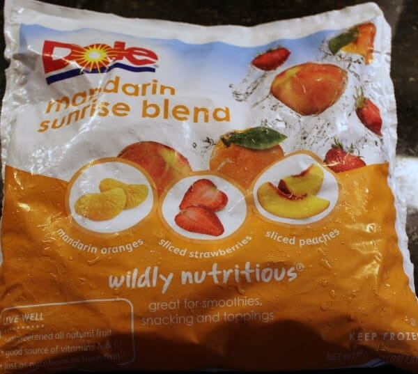 This the fruit blend I like to use in this smoothie. I got it a Costco!