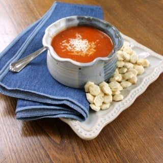 Easy Homemade Tomato Basil Parmesan Soup