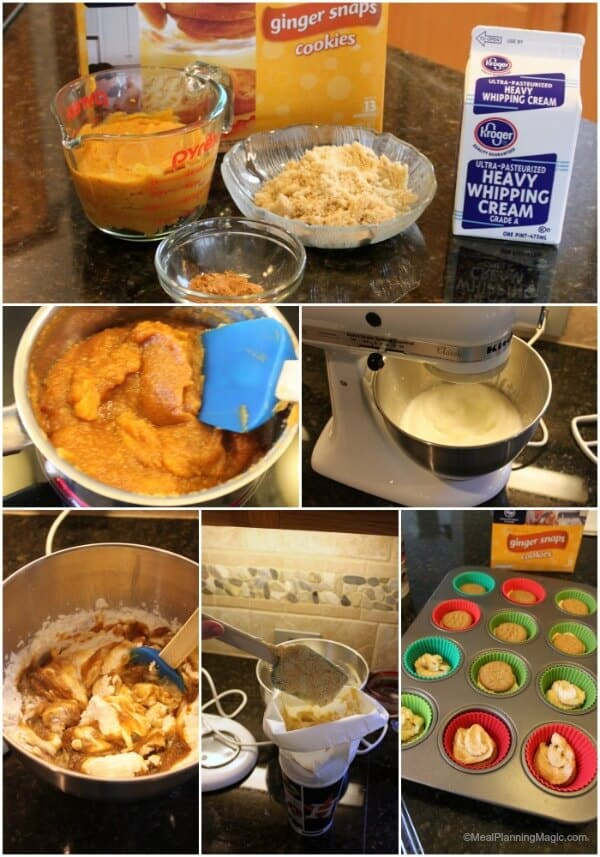 Ingredients needed to make a festive ginger pumpkin mousse dessert recipe