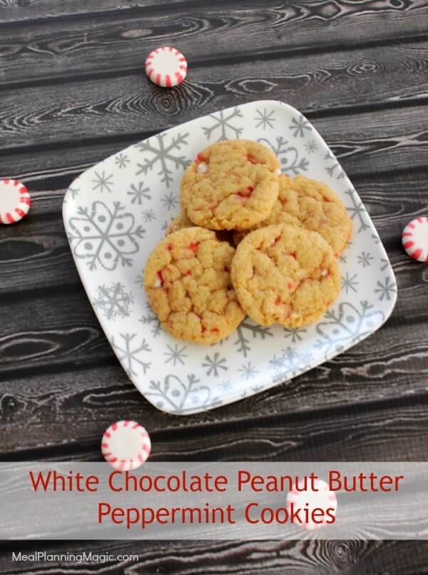 Simple White Chocolate Peanut Butter Peppermint Cookies | # ...