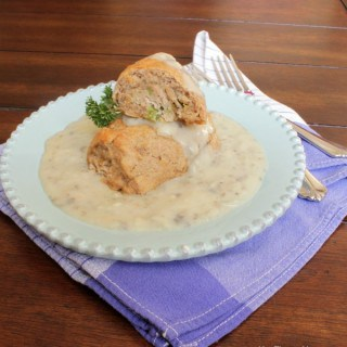 Whole Wheat Tuna Rollups with Creamy Gravy | A family favorite of ours and so easy to make! | Recipe at www.mealplanningmagic.com