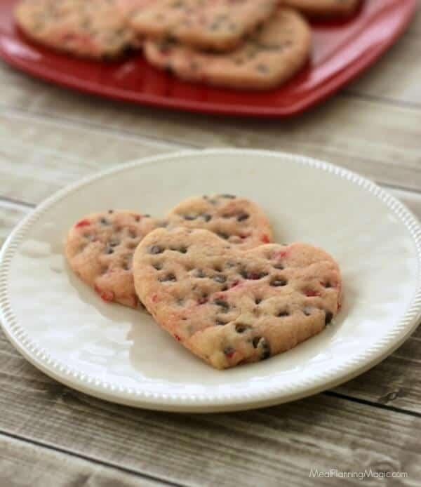 Super Simple Chocolate Cherry Cutout Sugar Cookies   Recipe at MealPlanningMagic.com