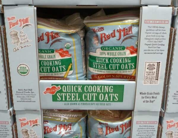Save money on organic steel cut oats by buying in bulk! More tips at MealPlanningMagic.com