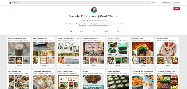 Meal Planning Magic's Pinterest Boards - March 2015
