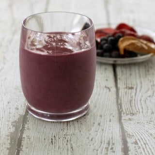 Peanut Butter and Jelly Smoothie Recipe {All Natural}