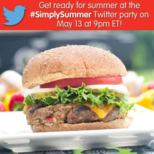 SimplySummer twitter party image