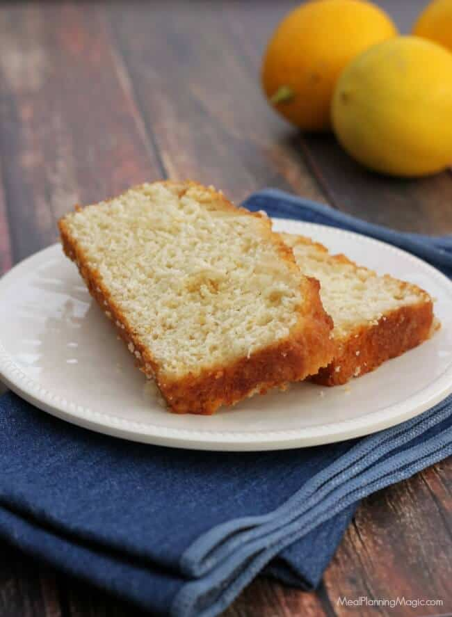 All-natural and so deliciously easy, this Sticky Lemon Bread with Greek yogurt is sure to become a favorite for any occasion! | Recipe at MealPlanningMagic.com